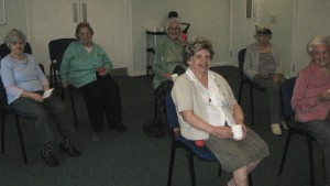 Stokesley and District Community Care Association chair based exercise class alive and active