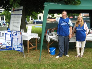 Community Care Tombola and information stall at Hutton Rudby on Saturday 4th July 2015