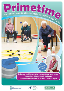 Primtime, curling, new age, boccia, volunteers